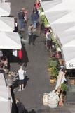 Mercado livre em Roma - Campo de Fiori Foto de Stock