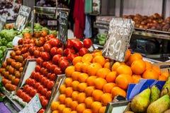 Mercado local de la comida Imagenes de archivo