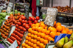 Mercado local do alimento Imagens de Stock