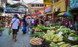 Mercado local en Chinatown en Manila, Filipinas Foto de archivo libre de regalías