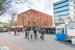 Mercado local en Lelystad Imágenes de archivo libres de regalías