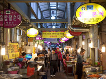 Mercado local, Gyeongju, Coreia do Sul Fotografia de Stock