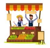 Mercado local orgánico de la comida y de las verduras Imagen de archivo libre de regalías