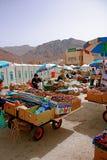 Mercado local que vende fechas Imagen de archivo
