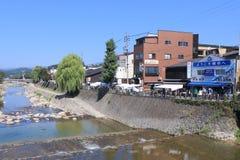 Mercado local Takayama Japón Foto de archivo libre de regalías