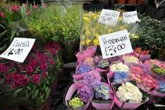 Mercado Londres, Reino Unido de la flor del camino de Columbia imagen de archivo libre de regalías
