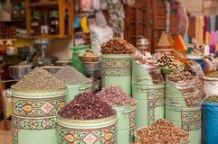 Mercado marroquino da especiaria imagem de stock