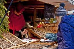 Mercado medieval de la Navidad, Munich Alemania Foto de archivo