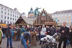 Mercado medieval de la Navidad, Munich Alemania Fotos de archivo libres de regalías