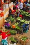 Mercado mojado colorido en Asia Imagen de archivo