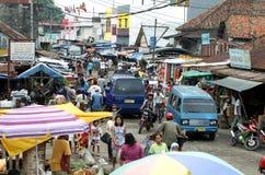 Mercado mojado de Palembang Fotografía de archivo