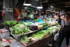 Mercado molhado em Shanghai do centro Fotos de Stock Royalty Free