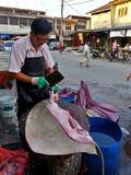 Mercado molhado em Taiping Fotografia de Stock Royalty Free