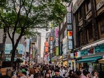 Mercado Myeongdong Fotos de archivo libres de regalías