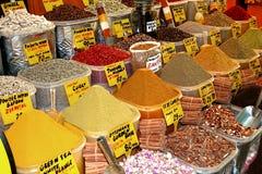 Mercado oriental de especiaria-Turquia Imagem de Stock Royalty Free
