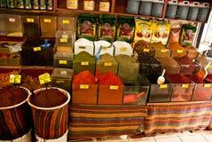 Mercado oriental de la comida y de la especia Foto de archivo libre de regalías