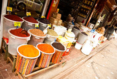 Mercado oriental de la comida y de la especia Imagen de archivo libre de regalías