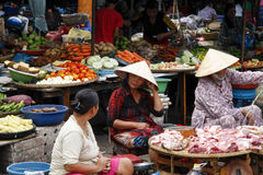 Mercado oriental de Vietname Fotografia de Stock
