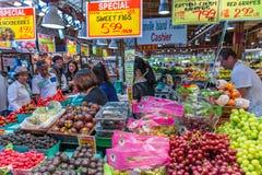 Mercado público de la isla de Granville fotos de archivo libres de regalías
