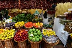 Mercado Pasillo de Funchal, Madeira Fotografía de archivo libre de regalías
