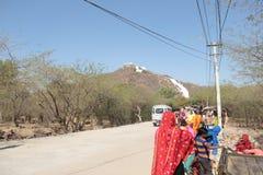 Mercado pequeno da vila indiana em Rajasthan fotos de stock royalty free