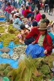 Mercado peruano do Natal Fotografia de Stock