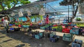 Mercado por el mar Fotos de archivo libres de regalías