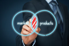 Mercado potencial e quota de mercado imagens de stock royalty free