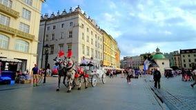 Mercado principal de Krakow, Polônia filme