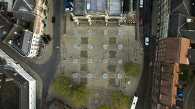 Mercado, quadrado do trinity, Kingston Upon Hull, yorkshire do leste fotos de stock