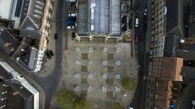 Mercado, quadrado do trinity, Kingston Upon Hull, yorkshire do leste imagem de stock