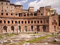Mercado Roma Italia de Trajan Imagen de archivo