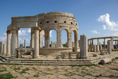 Mercado romano, Libia Imagen de archivo