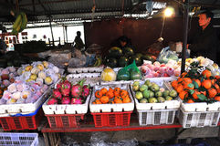 Mercado rural asiático em Sapa, Vietname Imagens de Stock