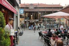 Mercado San Miguel i Madrid Arkivfoto