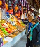 Mercado San Miguel madryt Hiszpanii Obrazy Stock