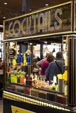 Mercado San Miguel market with food courts and delicacies is a popular place among tourists and city dwellers. MADRID, SPAIN -  28 MARCH, 2018: Mercado San Stock Photo