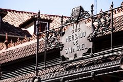Mercado San Miguel w Madryt Fotografia Royalty Free