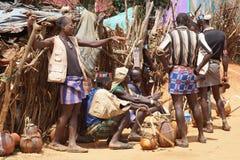 Mercado semanal, Afer dominante, Etiopía, África Imagenes de archivo