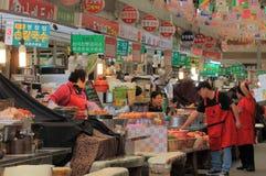Mercado Seoul Coreia do Sul de Gwangjang Fotografia de Stock Royalty Free