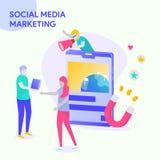 Mercado social dos media ilustração stock