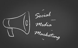 Mercado social dos media Imagens de Stock Royalty Free