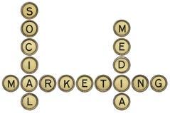 Mercado social dos media Foto de Stock