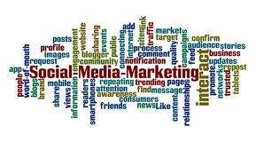 Mercado social dos meios Foto de Stock Royalty Free
