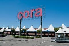 Mercado super de Cora em França Imagens de Stock