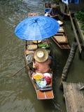 Mercado tailandés del agua Imágenes de archivo libres de regalías
