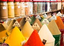 Mercado tradicional das especiarias Fotos de Stock Royalty Free