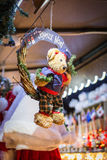 Mercado tradicional de la Navidad Foto de archivo libre de regalías