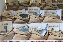 Mercado tradicional de plantas medicinales Imagen de archivo libre de regalías