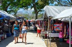 Mercado tradicional de sábado em San Ignacio, Belize fotografia de stock